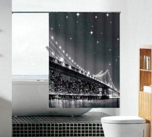 וילון אמבטיה בד גשר הזהב
