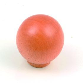 """ידית כפתור עץ 4100 (כדור) 25 מ""""מ בוק אדום"""