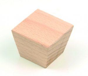 ידיות כפתור למטבח ורהיטים עץ מרובע קוני 4140 – 40X40  בוק