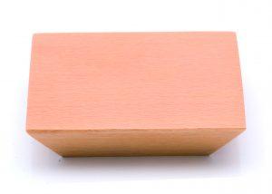 """ידיות למטבח ורהיטים עץ מרובע קוני 4170 {90X90)  מרחק ברגים 32 מ""""מ בוק יבש"""
