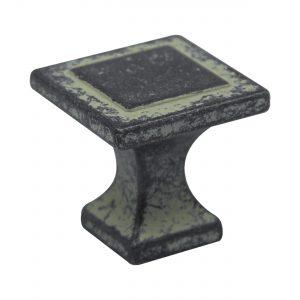 ידית כפתור 115 – ברזל מושחר וואש אייבורי C2
