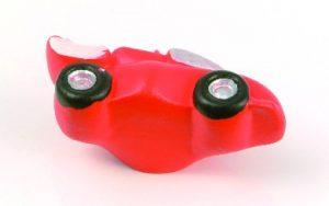 ידית כפתור RJ/356 אוטו – קרמיקה אדום