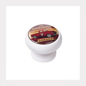ידית כפתור רטרו 450 – לבן / טנדר אדום BL 11