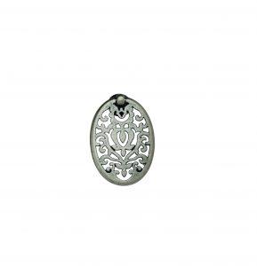 """ידיות כפתור למטבח ורהיטים 03158 – 54 מ""""מ כסף עתיק Alhambra M25"""