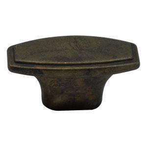 """ידיות כפתור למטבח ורהיטים 24087 – 45 מ""""מ פליז עתיק M03"""