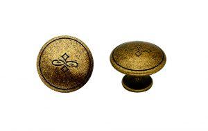 """ידיות כפתור למטבח ורהיטים 24130 – 30 מ""""מ ברונזה פירנצה M09"""