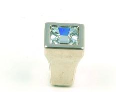 """ידיות כפתור למטבח ורהיטים 24200 – 15 מ""""מ כרום/קריסטל STRASS"""