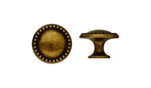 """ידיות כפתור למטבח ורהיטים 24222 – 30 מ""""מ ברונזה פירנצה M09"""
