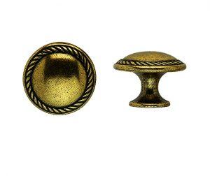 """ידיות כפתור למטבח ורהיטים 24223 – 30 מ""""מ ברונזה פירנצה M09"""