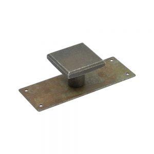 """ידיות כפתור למטבח ורהיטים 25994 – 80 מ""""מ + פלטה ברזל רומא M27"""