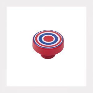 """ידית כפתור ספירלה 7254 – 40 מ""""מ אדום כחול RA"""