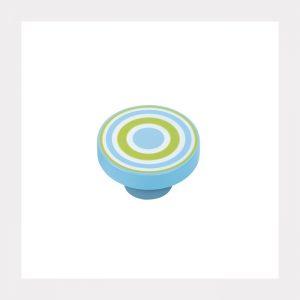 """ידית כפתור ספירלה 7254 – 40 מ""""מ כחול ירוק VT"""