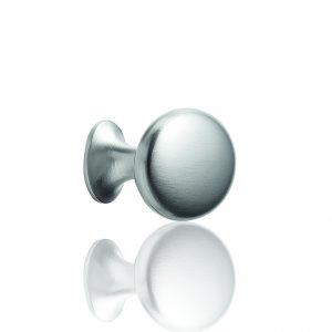 """ידיות כפתור למטבח ורהיטים 52506 – 60 מ""""מ ניקל מט מוברש F66 Oval Simple"""