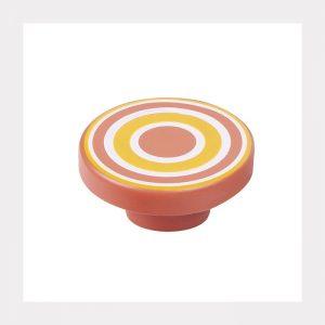 """ידית כפתור ספירלה 7258 – 80 מ""""מ כתום אדום NJ"""