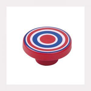 """ידית כפתור ספירלה 7258 – 80 מ""""מ כחול אדום RA"""