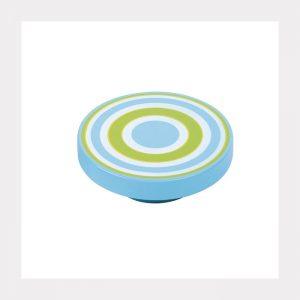 """ידית כפתור ספירלה 7258 – 80 מ""""מ כחול ירוק VT"""