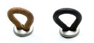 """ידיות כפתור למטבח ורהיטים MN400 – 40 מ""""מ עור טבעי / ניקל מט"""