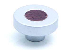 ידיות כפתור למטבח ורהיטים PO395 – כרום מט / וונגה