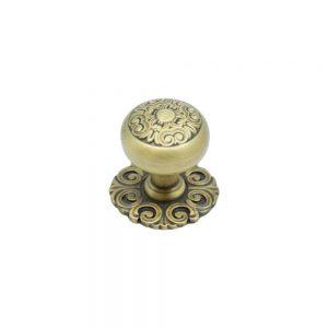 """ידיות כפתור למטבח ורהיטים S449 – 31 מ""""מ ברונזה מוברשת 26 BAS"""