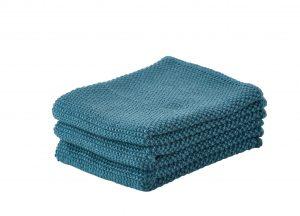 """סט 3 מגבות קטנות 27×27 ס""""מ – כחול פטרול 371124"""