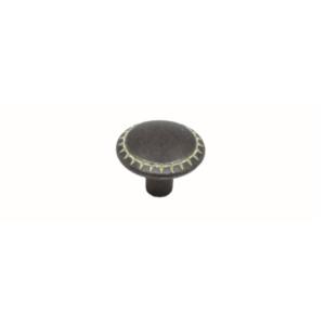 ידית כפתור 501 – ברזל מושחר וואש אייבורי C2