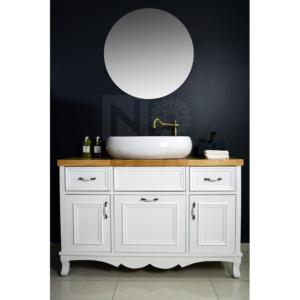 ארון  אמבטיה דגם רויאל כולל כיור איטגרלי או משטח עץ אלון – 100