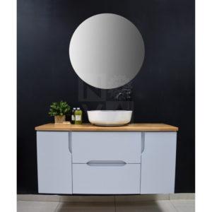 ארון אמבטיה דגם טל שחר כולל כיור איטגרלי או משטח עץ אלון