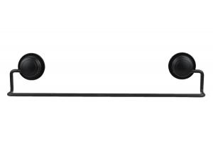 """מוט מגבת שחור – חיבור ע""""י ואקום או הדבקה ללא קדיחה סידרת lock black."""