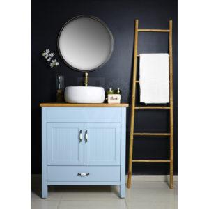 ארון אמבטיה דגם פלורנס כולל כיור איטגרלי או משטח עץ אלון