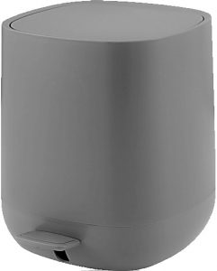 פח אמבט אפור  5 ליטר סופטי  טריקה שקטה