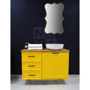 ארון  אמבטיה דגם גארדה כולל כיור איטגרלי או משטח עץ אלון – 80