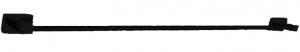 מוט מגבת בודד טואלט בהדבקה שחור – 7 שנות אחריות סדרת אתנה black