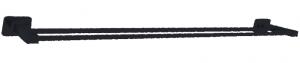 מוט מגבת כפול בהדבקה שחור – 7 שנות אחריות סדרת אתנה black