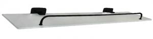 מדף זכוכית בהדבקה שחור – 7 שנות אחריות סדרת אתנה black