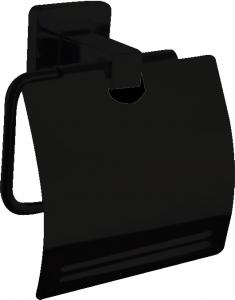 מתקן נייר טואלט סגור בהדבקה שחור – 7 שנות אחריות סדרת אתנה black