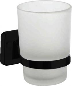 מחזיק כוס בהדבקה שחור – 7 שנות אחריות סדרת אתנה black
