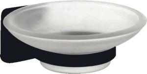 סבונייה זכוכית בהדבקה שחור – 7 שנות אחריות סדרת אתנה black