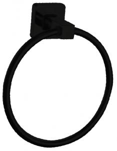 טבעת למגבת בהדבקה שחור – 7 שנות אחריות סדרת אתנה black