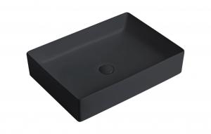 """כיור לאמבט חרס שחור מט מידות  10.5/36/50  מ""""מ"""