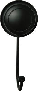 """קולב בודד שחור – חיבור ע""""י ואקום או הדבקה ללא קדיחה סידרת lock black."""