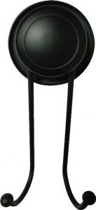 """קולב כפול שחור – חיבור ע""""י ואקום או הדבקה ללא קדיחה סידרת lock black."""