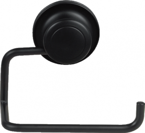 """מחזיק נייר טואלט שחור – חיבור ע""""י ואקום או הדבקה ללא קדיחה סידרת lock black."""