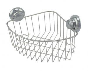 """מדף רשת פינתית נירוסטה – חיבור ע""""י ואקום או הדבקה ללא קדיחה סידרת lock."""
