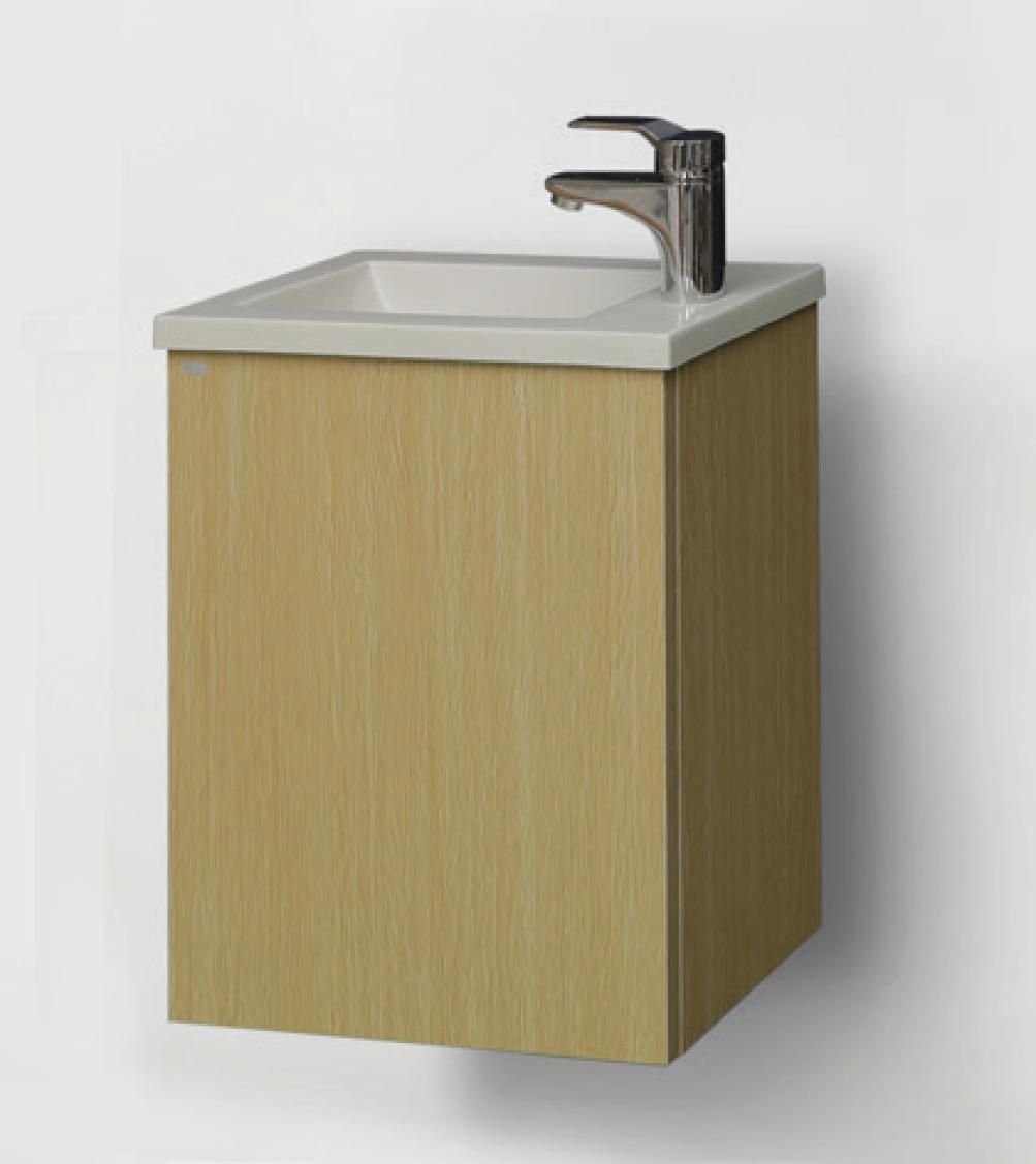 ארון אמבטיה כפרי תלוי דלתות מסגרת ומשטח בוצ'ר  – דגם ניו דקו