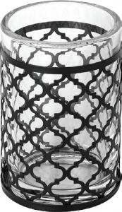 כוס מברשות שיניים עיטור שחור- סדרת GAIA