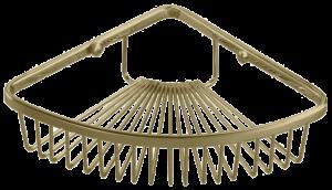 מדף רשת מעוגלת למקלחת – ברונזה