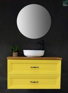 ארון אמבטיה דגם אמפייר כולל כיור או משטח עץ