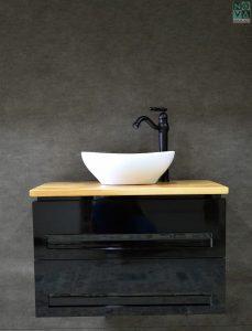 ארון אמבטיה דגם ליון כולל כיור או משטח עץ