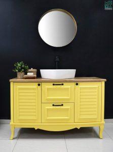 ארון אמבטיה דגם נפולי כולל כיור או משטח עץ – 100