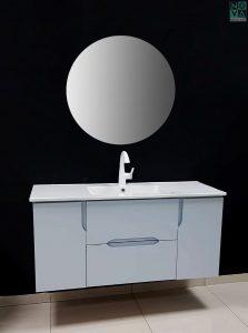 ארון אמבטיה דגם טל שחר כולל כיור או משטח עץ